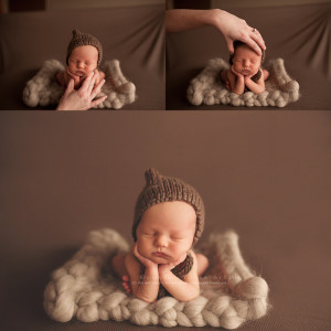 newborn photography composite